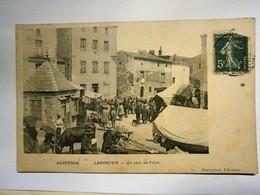 Auvergne Lamontgie Un Coin De Foire,Puy De Dôme 63,voyagée 1909,très Bel état;très Rare - Other Municipalities