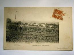 Auvergne Lamontgie Vue Générale Un Paysan,Puy De Dôme 63,voyagée 1909,très Bel état;pas Commun - Other Municipalities