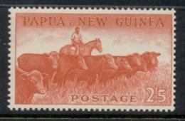 PNG 1958-60 Pictorial 2/5d Cattle MUH - Papua-Neuguinea