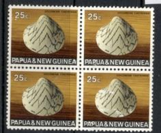 PNG 1968-69 Shell 25c Blk4 FU - Papua-Neuguinea