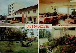 21-CHEVIGNY ST SAUVEUR..AU BON ACCEUIL..HOTEL BAR RESTAURANT...4 VUES ..CPM - Autres Communes