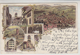 Gruss Aus Kaysersberg - Geschäftshaus Mercky ... 1897 Litho - Kaysersberg