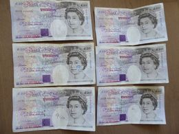 Lotto Di 6 X 20 Pounds - 1952-… : Elizabeth II