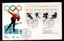 Olympische Spiele München 1972 Auf FDC - BRD