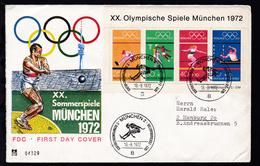Olympische Sommerspiele München 1972 Auf FDC - BRD