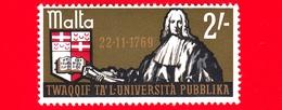 Nuovo - MNH - MALTA - 1969 - 200 Anni Di Università Pubblica - Grand Master De Fonseca (fondatore) - 2'- - Malta