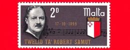 Nuovo - MNH - MALTA - 1969 - 100 Anni Della Nascita Di Robert Samuls - Compositore - Musica - 2 D - Malta