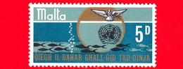 Nuovo - MNH - MALTA - 1969 - Fondale Marino - Pesci - Natura - ONU - 5 D - Malta