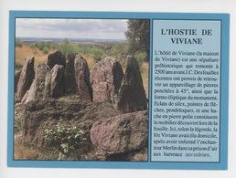 Paimpont : Sépulture Préhistorique Hotié De Viviane, Tombeau Des Druides Légende Merlin - Dolmen & Menhirs