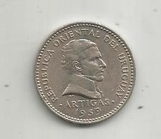 Monnaie, REPUBLICA ORIENTAL DEL URUGUAY , ARTIGAS , 1959 , 10 Centésimos , 2 Scans - Uruguay