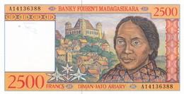 Billet  Neuf  2500 Francs Madagascar - Madagascar