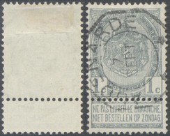 "Fine Barbe - N°53 Obl Télégraphique ""Audenarde"". TB - 1893-1900 Thin Beard"