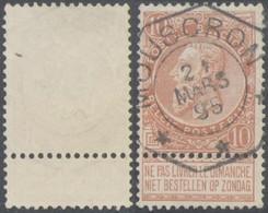 """Fine Barbe - N°57 Obl Télégraphique """"Mouscron"""" (3 étoiles) - 1893-1900 Thin Beard"""