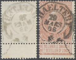 "Fine Barbe - N°57 Obl Télégraphique ""Haeltert"". Superbe - 1893-1900 Fine Barbe"