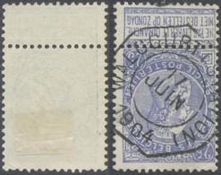 "Fine Barbe - N°60 Obl Télégraphique ""Walcourt (station)"" - 1893-1900 Fine Barbe"