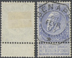 "Fine Barbe - N°60 Obl Télégraphique ""Genappe"". TB - 1893-1900 Fine Barbe"