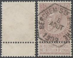 "Fine Barbe - N°61 Obl Chemin De Fer (hexagonal) ""Berchem-St-Agathe"" - 1893-1900 Fine Barbe"