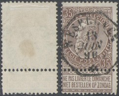 "Fine Barbe - N°61 Obl Télégraphique (petit Format) ""Wespelaer"" - 1893-1900 Fine Barbe"