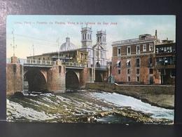 """PERÙ.........LIMA........."""" Puente De Piedra - Iglesia De San Jose' """" .......ca.  1920 ' - Peru"""