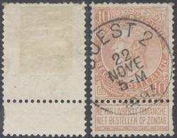 """Fine Barbe - N°57 Obl Ambulant """"Ouest 2"""" - 1893-1900 Thin Beard"""