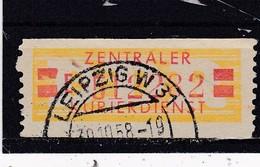 DDR, Dienst B: Wertstreifen Nr. 19 II, F, Gest. (T 16429) - Official