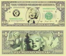 Marilyn Monroe (nr 1) One Million Dollar Bill (geen Echt Geld, No Real Money) - Bankbiljetten