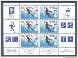 Slovenia Slovenie Slowenien 1994: Mi 76-77 Olympic Games Lillehammer Olympische Spiele; Sheet MNH; Cross Country Alpine - Slovenia
