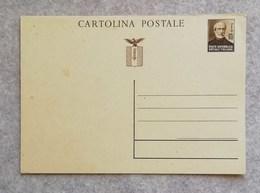 """Cartolina Postale Da 30 Cent. """"Giuseppe Mazzini"""" RSI - Non Viaggiata - 4. 1944-45 Repubblica Sociale"""