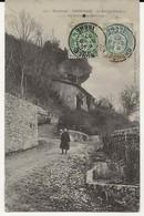 38- 60006  -  SASSENAGE  -  Le Rocher Sur Le Chemin Des Cuves - Sassenage