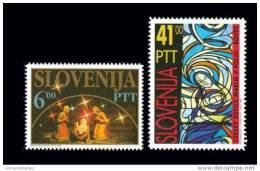 Slovenia 1992 - Christmas Stamps Mi. 32 - 33, 35 - Slovenia