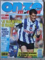 Revue Onze Mondial N°45 (octobre 1992) Waddle France-Autriche - Coupes D'Europe - Calendrier Mondial 94 - Fiches - Sport