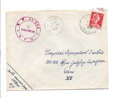 ALGERIE LETTRE DE DUPERRE POUR LA FRANCE 1959 - Covers & Documents