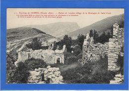 05 HAUTES ALPES - SERRES Environs, Ruines De L'ancien Village De La Montagne De Saint-Genis (voir Description) - Other Municipalities