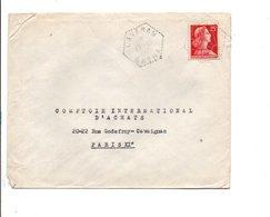 ALGERIE LETTRE DE LAVERAN BATNA POUR LA FRANCE 1957 - Algérie (1924-1962)