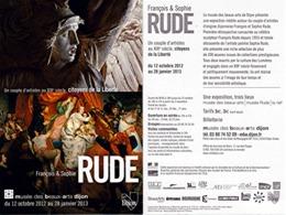 """Carte Publicitaire """"François Et Sophie RUDE"""" Musée Des Beaux-Arts DIJON [Sculpteur, Peintre]  (recto-verso) (1071)_D284 - Altri"""