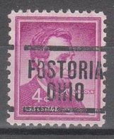 USA Precancel Vorausentwertung Preo, Locals Ohio, Fosteria 204 - United States