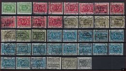 Lot Strafport 38 Zegels Allen Met Voorafstempeling BRUSSEL 1919 BRUXELLES ; Staat Zie Scan  ! - Roller Precancels 1910-19
