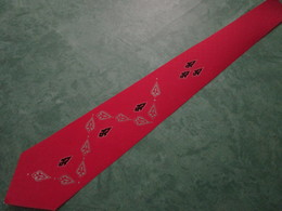 ECHANTILLON Sur Papier Dessiné Et Peint à La Main - Cravates