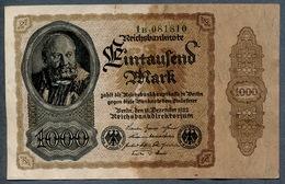 Pick82a  Ro81b  DEU-92c - 1000 Mark 1922 ** XF Pas De Plis !!! ** - [ 3] 1918-1933 : République De Weimar