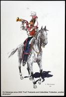 Costume Militaire Belge J. DEMART Belgian Military Costume - 1er LANCIERS Trompette 1835 Trumpet Clairon - Uniformes