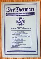 Der Dietwart, 1. Jahrgang Folge 17,  5.1.1936 - German