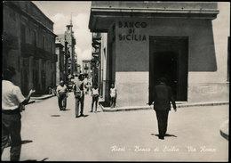 RIESI (CALTANISSETTA) BANCO DI SICILIA - VIA ROMA - Caltanissetta