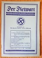 Der Dietwart, 1. Jahrgang Folge 18,  20.1.1936 - German