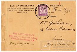 Advertising Ukraine Poland Lvov Notary 1935 V. - 1919-1939 Republic