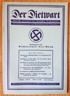 Der Dietwart, 1. Jahrgang Folge 19,  5.2..1936 - German