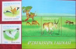Uzbekistan  2014  Fauna  Birds  2 V +S/S     MNH - Ouzbékistan