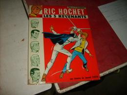 Ric Hochet Les Cinq  Revenants  édition Original Dédicace + Dessin Signé Par Tibet - Autographs