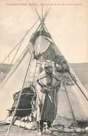 Canada Indien Devant Son Tipi Pasquita Indian Tribue Tribe Native - Zonder Classificatie