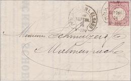 Brief Von Mühlhausen/Elsass Nach Malmenspach - Zonder Classificatie