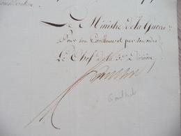 Ministère De La Guerre Napoléon LAS Autographe Signée Goulnot Paris 08/03/1813 Nomination Vétérans Labarrière 4 ème - Documenten